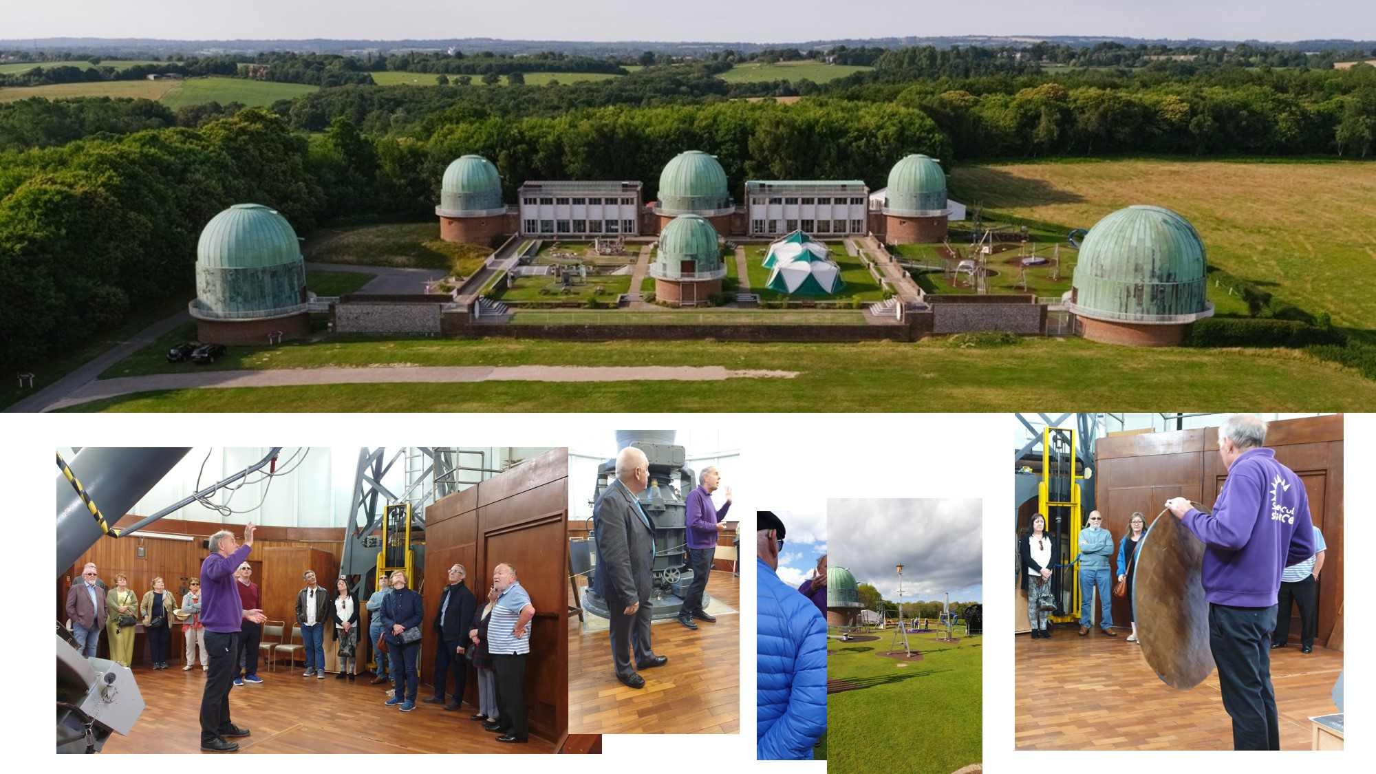 A view of the Observatory Science Centre and the tour group